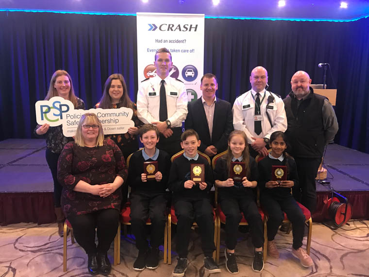 Windsor Hill PS came second in the local heat of the NI Primary School Road Safety Quiz.