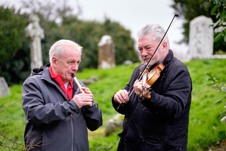 Tommy Fegan and Gerry O'Connor at Faughart. Photograph: Columba O'Hare/ Newry.ie