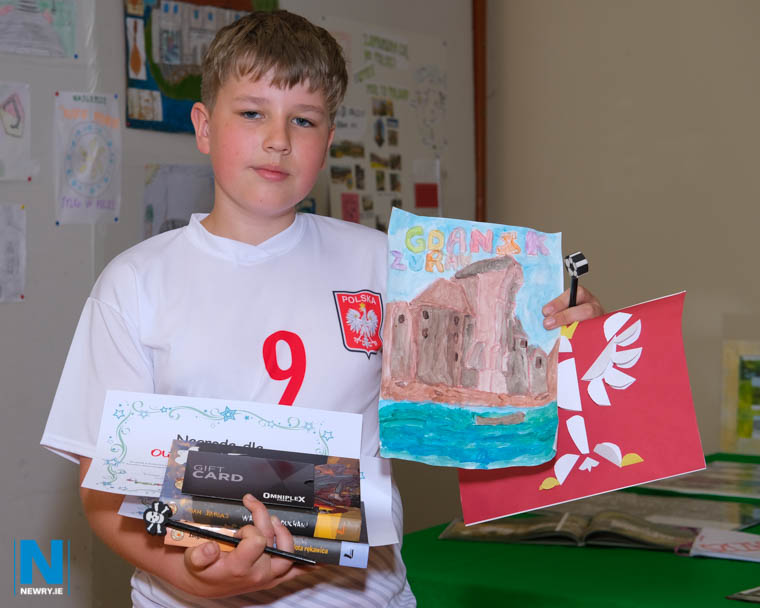 Olivier Kedzior was the winner in the Age 11-15 section in the Art Competition at the Polish Supplementary School in Newry Photograph: Columba O'Hare/ Newry.ie