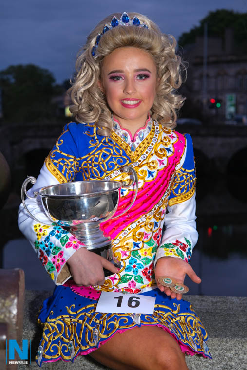 The winner in the U14 Irish Dancing (Confined) class at Newry Musical Feis was Laura Kavanagh from Killean. A pupil of St Mary's High School Laura dances with Rooney, O'Malley Maguire School of Dancing. Photograph: Columba O'Hare/ Newry.ie