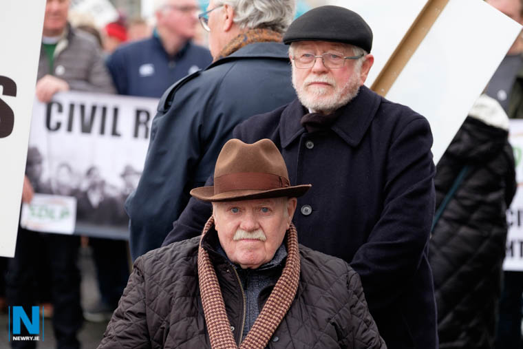 Dan and Tom Moore at the Civil Rights Parade commemoration in Newry. Photograph: Columba O'Hare/ Newry.ie