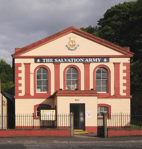 The Ebenezer Chapel on Trevor Hill which was built for the Congregationalists in 1819. This was one of the earliest Non-Conformist meeting houses in Newry to have a street frontage on a main thoroughfare. © William McAlpine