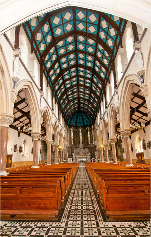The nave of the Dominican Church looking towards the chancel. Newry and Mourne Museum Collection
