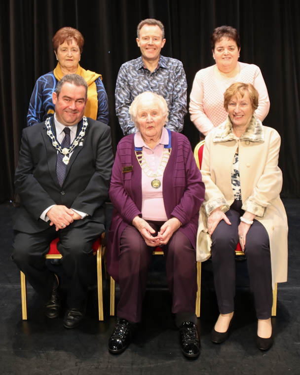 Pictured at the 2020 Newry Musical Feis launch are Seated L to R: Deputy Chair NMDDC, Cllr. Terry Andrews; President, Newry Musical Feis, Mrs Alma Brown ALCM; Irish Dance Adjudicator Ms Helen Mountaine ADCRG Standing L to R: Vice-Chair Newry Musical Feis, Miss Sheila Nolan ADTCRG; Accompanist, Mr Kevin Warren; Assistant Secretary Newry Musical Feis Irish Dance, Mrs Maria Moan TCRG.
