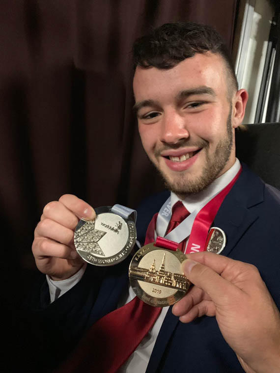 Conor McKevitt Medal Winner at the  Worldskills International Competition in Russia