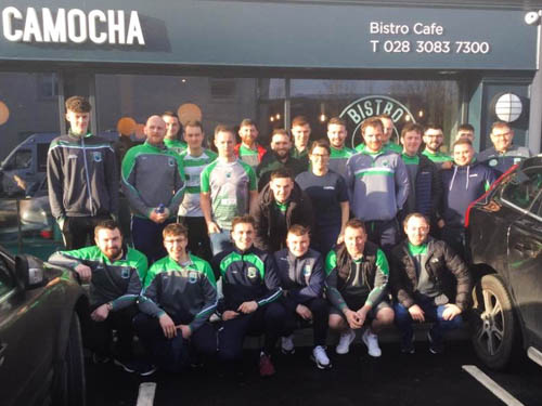 hane O'Neills senior men heading off on their team bonding session