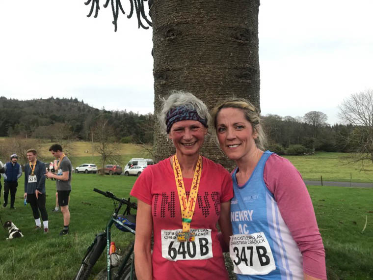 Ciara Coffey, right, with mountain running legend, Nicky Spinks
