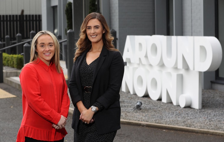 Around Noon's new appointments, left to right, Colette Keenan and Orla Morris, who will be based at the company's facility in Newry.