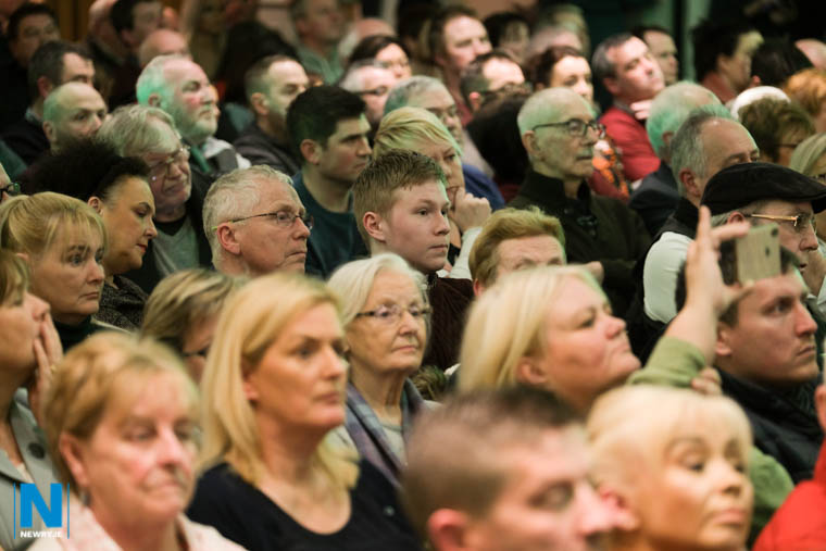 A section of the crowd who filled the Millar Suite at the Canal Court for the Sinn Féin post election meeting. Photograph: Columba O'Hare/ Newry.ie