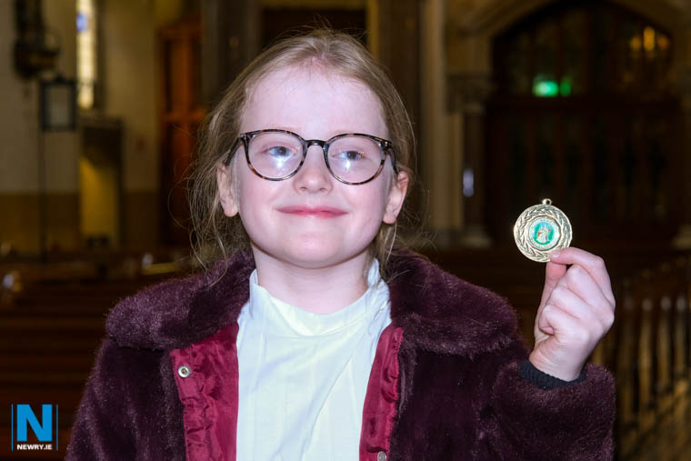 Annie Diamond, Castledawson with her medal in the Novice Organ Solo (Open) class at Newry Feis. Photograph: Columba O'Hare/ Newry.ie