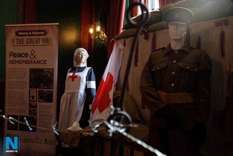 An exhibit at the WW1 Exhibition in Newry Masonic Hall. Photograph: Columba O'Hare/ Newry.ie
