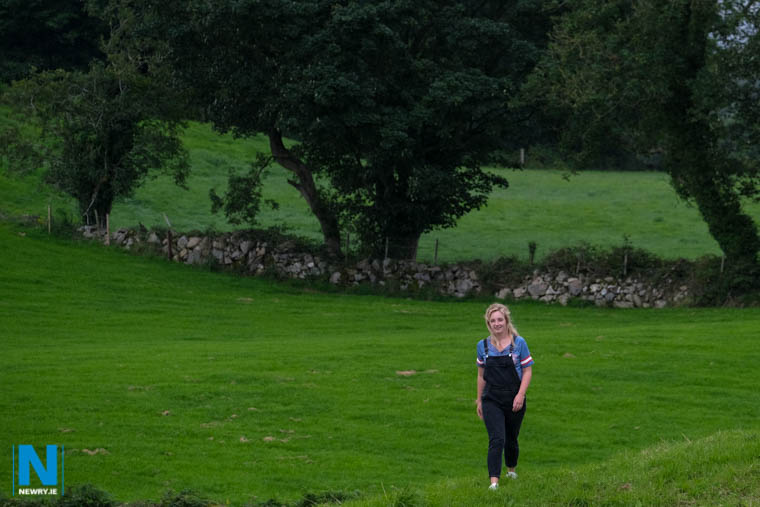 Fainche McCormack walking near her Grinan home. Photograph: Columba O'Hare/ Newry.ie