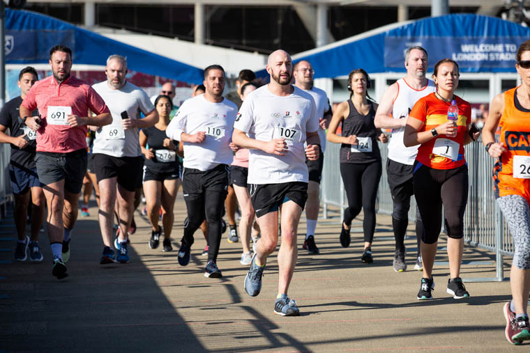 Alastair Chambers runs in the Everyday Battlers 10K at Queen Elizabeth Olympic Park in London. Photograph: Sam Mellish Photo