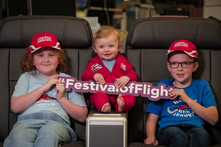 Taking their pick of Collins' best seats are little Harry O'Hare, Thomas Henning and Eva Quinn.    Photograph: Brian Thompson