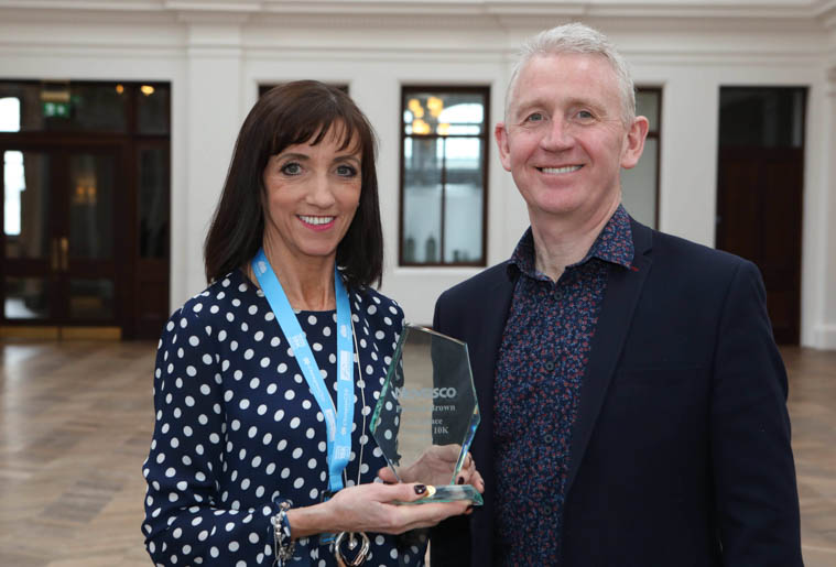 Patricia Brown pictured with Novosco co-founder and Strategic Advisor Patrick McAliskey.
