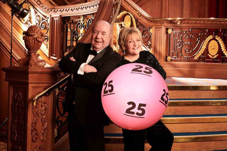 Colin and Eithne Bell from Newry, were amongst a group of lucky winners from Northern Ireland who gathered to celebrate the 25th birthday of The National Lottery.