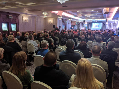 A packed Carrickdale hotel for the Brexit and Irish Unity conference.