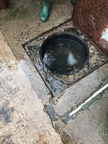 One of the manholes in the area.