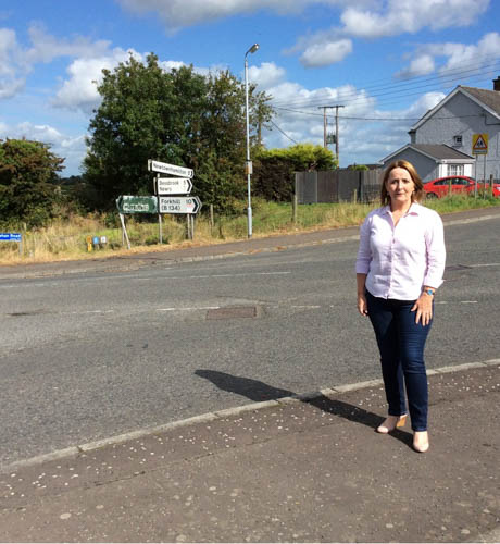 Cllr Mulgrew pictured at the Tullyah Crossroads