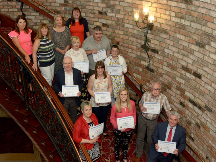 Dedicated Volunteers who were recognised for achieving a milestone award for volunteering