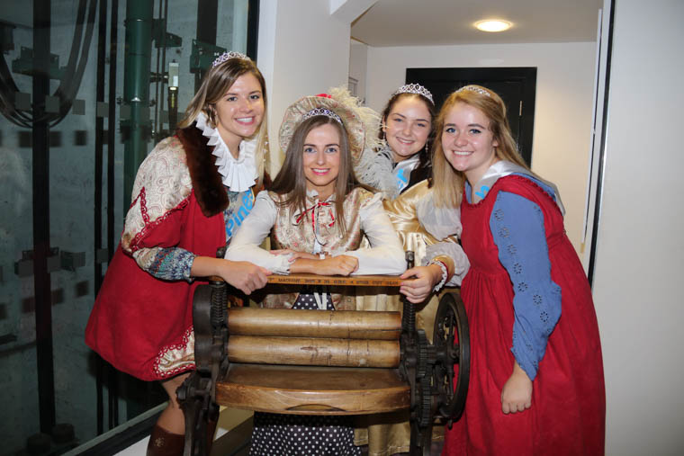 Maidens of the Mournes enjoy dressing up and learning about local history during their tour of Newry and Mourne Museum in Bagenal's Castle.