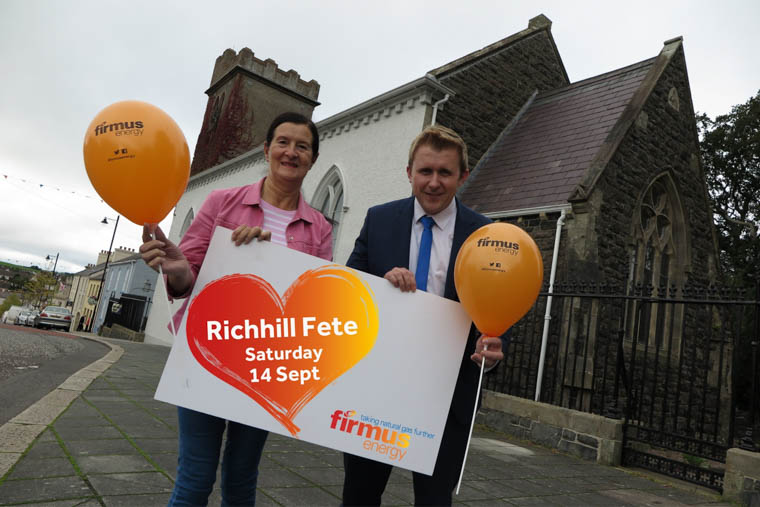 Launching the 2019 Richhill Village Fete, firmus energy advisor Philip Hewit is pictured with organiser Mary Caldwell. The popular Fete, sponsored by firmus energy, will return on Saturday 14th September.