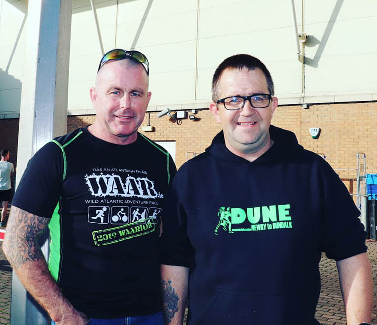 SGR members and founders of Dune Half Marathon Dermot Winters and Barry Duffy.