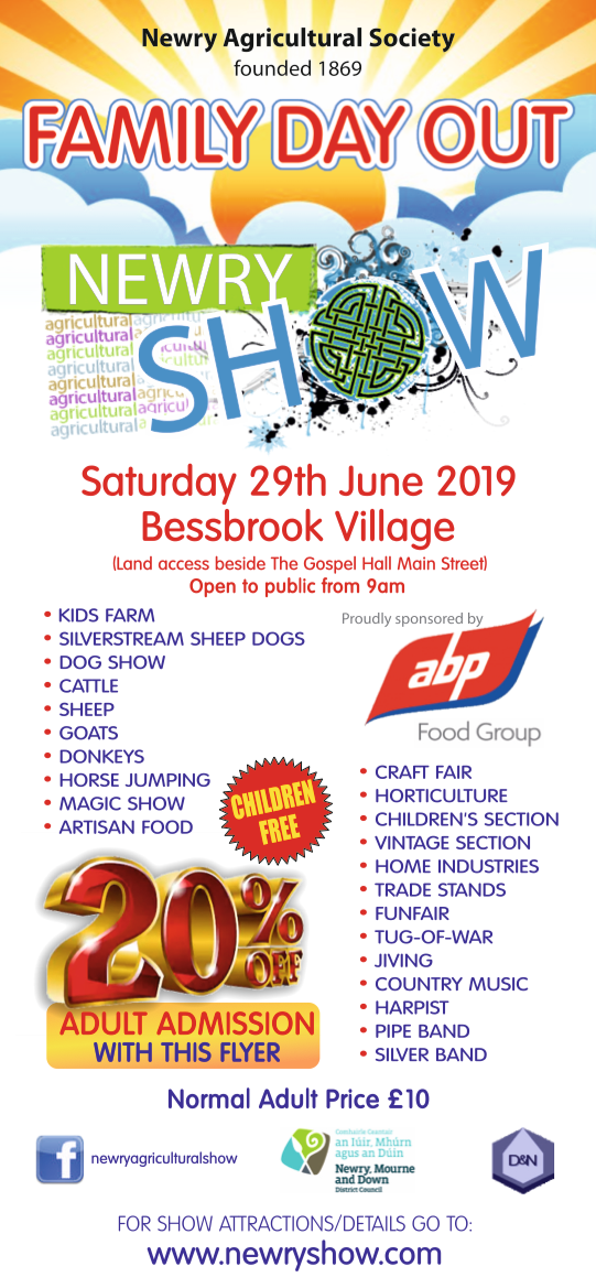 Newry ie - Newry Show this weekend - 20% off Admission with Enclosed