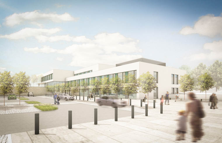 An artists impression of the new proposed Rathfriland Health Hub.