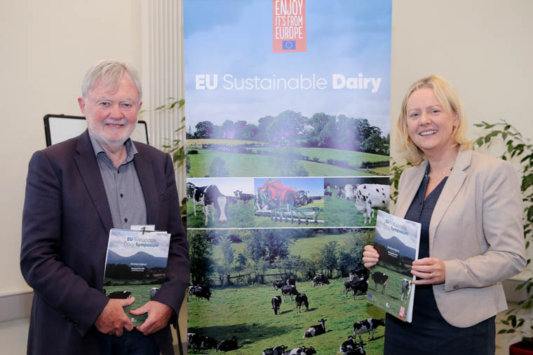Professor Sean Strain and Professor Mary Ward both from Ulster University attending the EU Sustainable Dairy Symposium