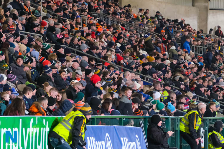 The Athletic Grounds in Armagh awaits another crowd like this January game. Photograph: Columba O'Hare/ Newry.ie