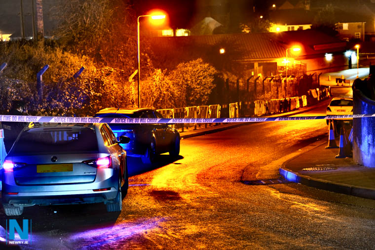 Police at a security alert in the Violet Hill Avenue area of Newry. Photograph: Columba O'Hare/ Newry.ie