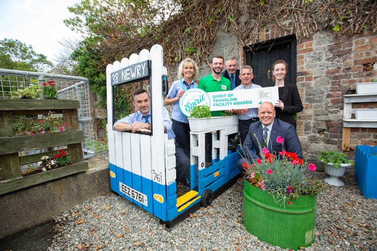 Pictured at the launch are Translink's John Crossen, Bronagh McDonnell, Gerald Eamonn Lonergan, Andy Bate, Catriona McAllister and John Thompson, with Jamie Miller, Keep Northern Ireland Beautiful.