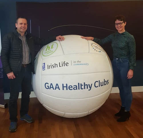 Craobh Rua representatives Eamon McCann and Sharon McCann pictured at the recent GAA Healthy Club seminar which took place  in Croke Park