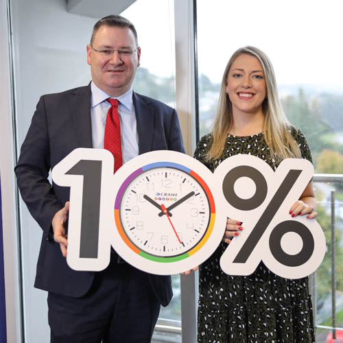 CRASH 'course' in productivity. Jonathan Mckeown, CEO, and Michelle Murphy, HR and Operation Manager, of CRASH Services announcing the new initiative.