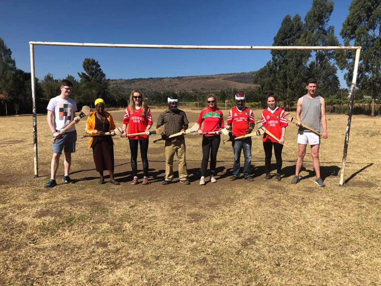 Craobh Rua's Conall Burns and Clodagh Elshaw were in Kiamaina, Central Kenya.
