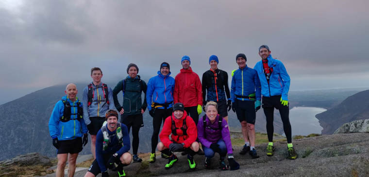 Newry AC athletes taking a quick break for a photo during their mountain training on Saturday