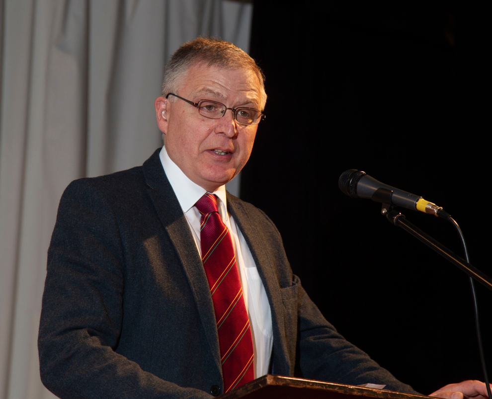 Former UFU dairy committee chairman William Irvine was the guest speaker at this year's Newry Show launch event.