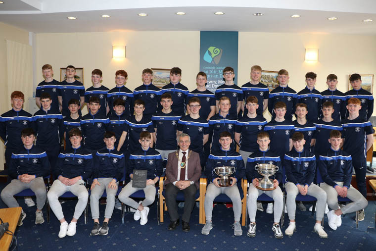 Newry, Mourne and Down District Council Chairman, Councillor Mark Murnin hosted a Civic Reception for St Colman's College GAA team for winning the Masita All-Ireland Paul McGirr Cup in Kinnegad on Saturday 30 March 2019.