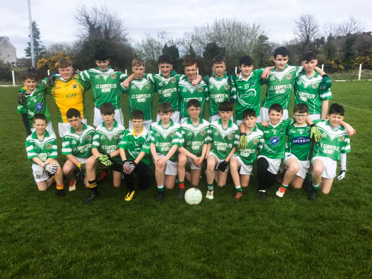 Patrick Rankin's U14s who defeated Silverbridge on Saturday to qualify for the Féile Shield final
