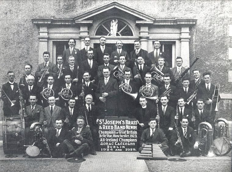 St. Joseph's Brass and Reed Band, c.1928 Newry and Mourne Museum Collection