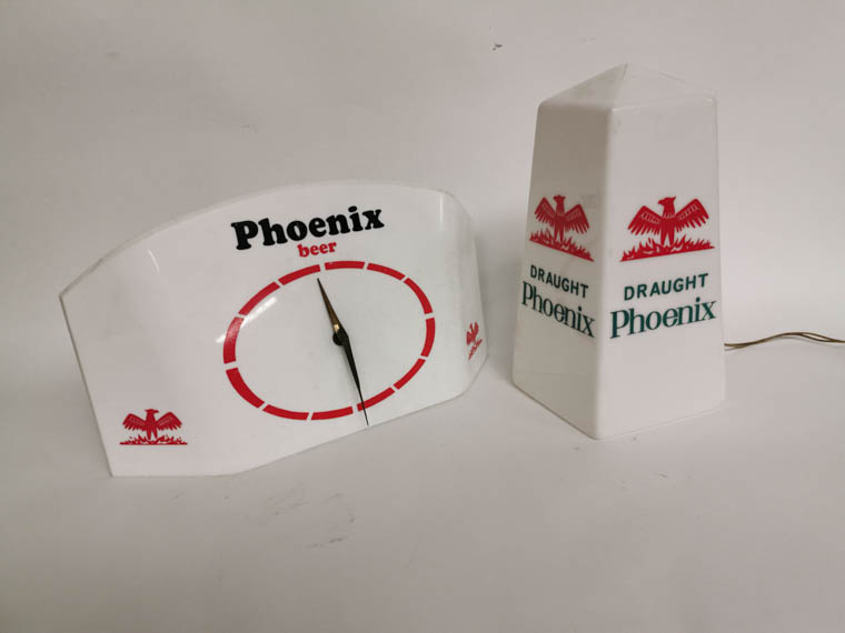 The Phoenix Beer items.