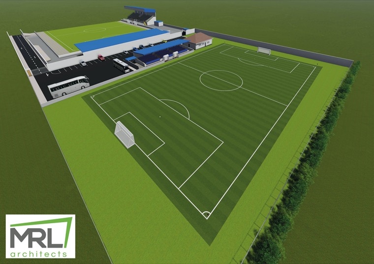 An artists impression of the new facilities at the Showgrounds.
