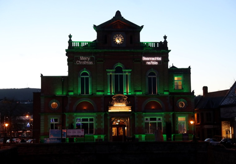 Newry Town Hall will be illuminated in Green on Monday in support of NSPCC