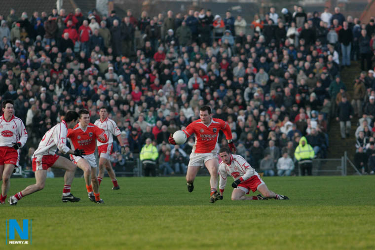 Armagh playing Tyrone at Casement Park in 2006. Photograph: Columba O'Hare