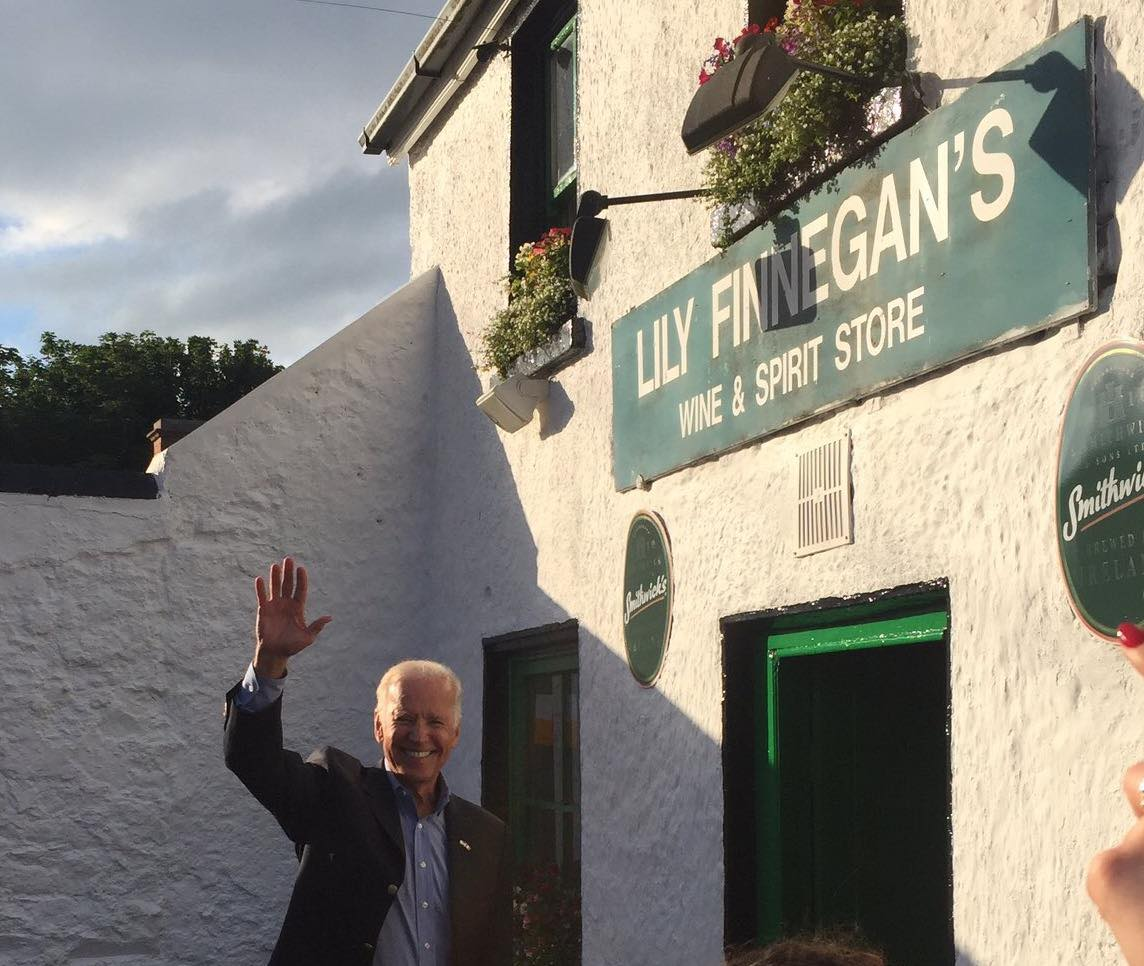 President Biden at Lily Finnegans in his VP capacity in 2016. Photograph with kind permission of Lily Finnegans