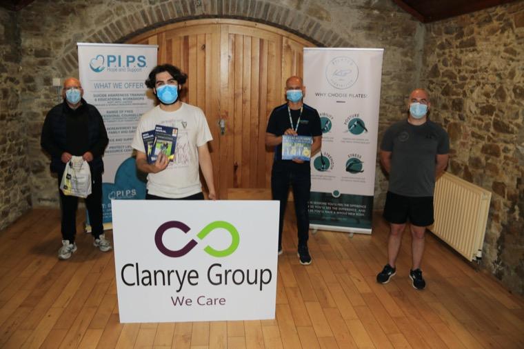 Men's Health Week 2021 (L-R) John Clinton Guest, James Poucher Clanrye Group, Robert Glusek Sure Start South Armagh and Kevin Beagan K.B. Pilates.