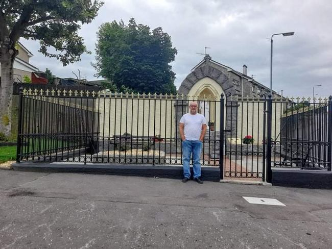 John McCabe at the Grotto of Christ the King Church Street, Newry