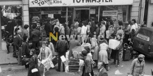 Christmas Shopping and Santa in Newry 1983