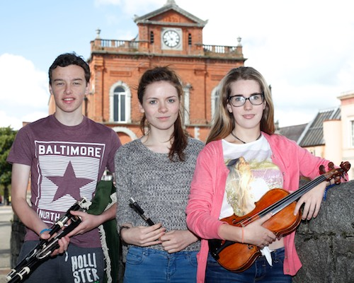 Maria McGauley, Cliodhna Quinn and Eamonn Burns from Oscail who will be performing at Iur Cinn Fleadh. Photograph: Columba O'Hare